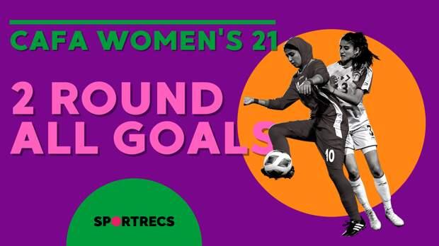 Cafa women's 2021 championship. 2 round all goals