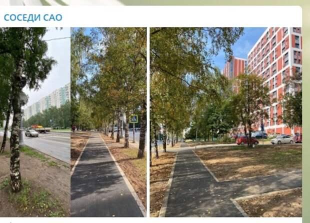 Тротуары появились на улице 800-летия Москвы