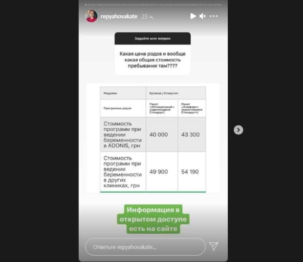 Виктор Павлик не пожалел денег на будущего сына: Катерина Репяхова рассказала во сколько обошлись роды