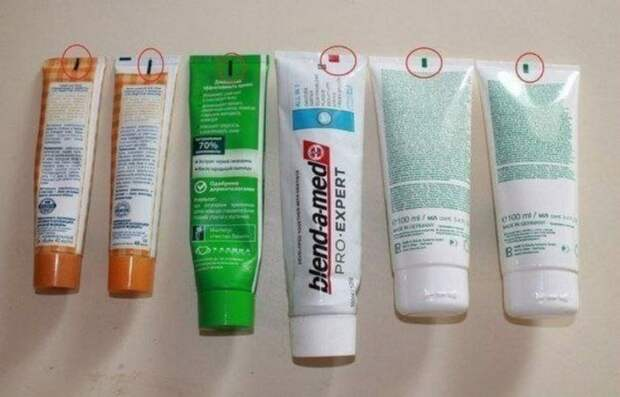 Обращайте внимание на цвет квадратика на тюбике зубной пасты при покупке