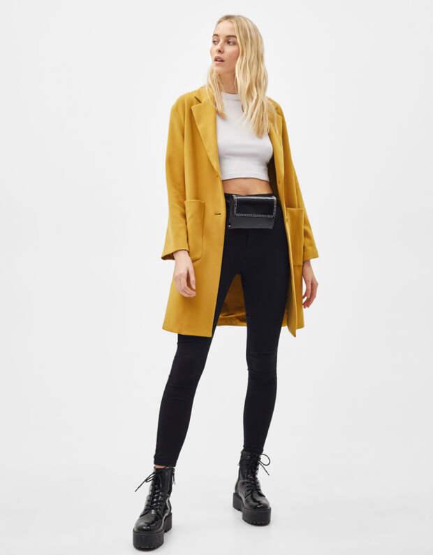 желтое пальто бершка