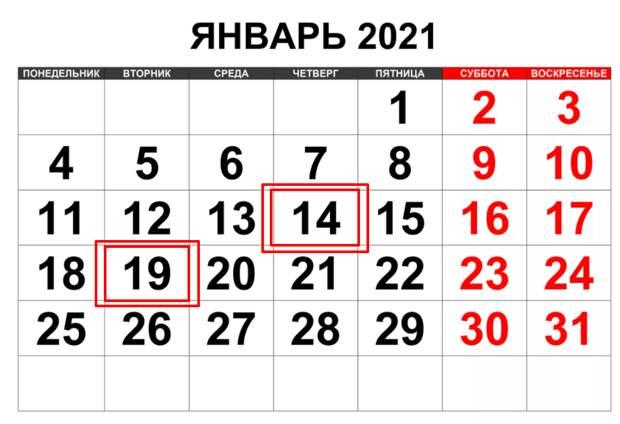 Лучшее время в ЯНВАРЕ 2021 года.