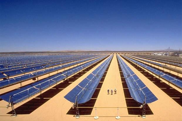 ВИЭ солнечные панели в Сахаре 'энергопереход