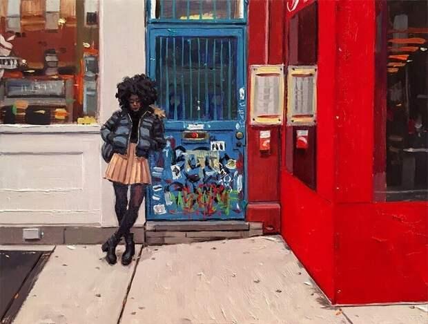 «Городская жизнь»: превосходные современные картины маслом
