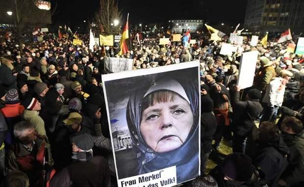 Немцы проклинают Меркель за разгул мигрантов, но считают ее круче Трампа и Путина
