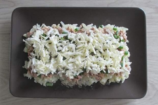 Мой любимый слоеный салат с печенью трески. Самый удачный вариант!