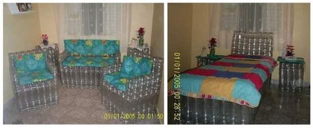 Легким движением руки диван и кресла превращаются в кровать