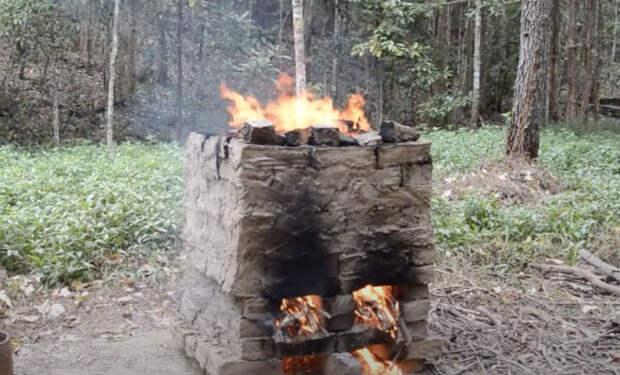 Печь для обжига кирпичей