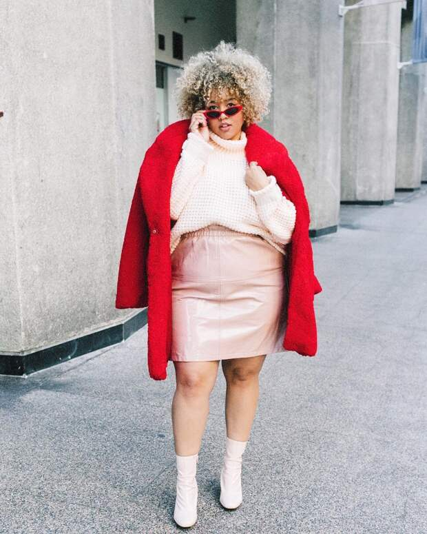 Модные зимние образы для полных женщин фото 2