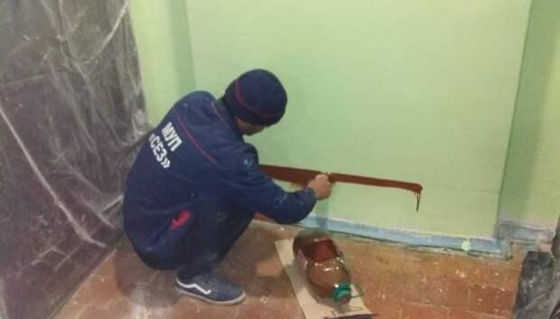Покрасочные работы начались в подъезде дома на Заводской улице Подольска
