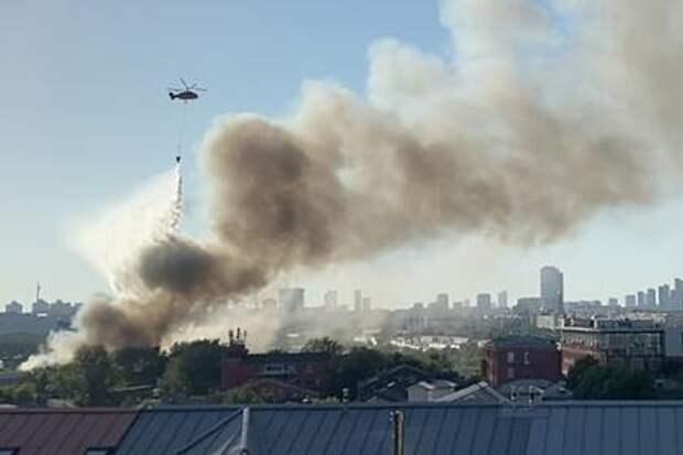 Пожар на складе пиротехники в Москве