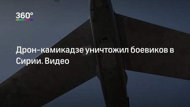 Дрон-камикадзе уничтожил боевиков в Сирии. Видео