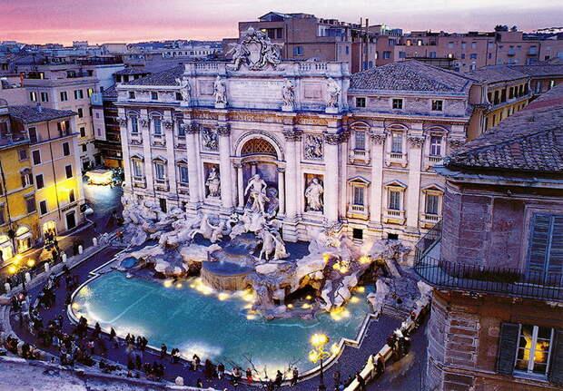 Фонтан Треви в Риме - самый крупный фонтан Рима. 10 мест для загадывания желаний