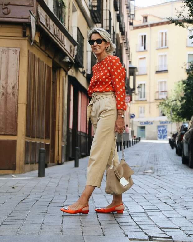 Женственный образ с брюками. /Фото: just-lady-me.ru