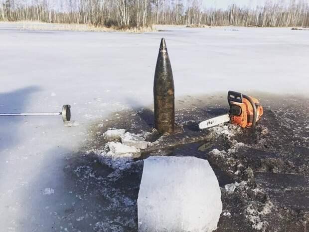 4. В местах боев по прорыву блокады Ленинграда еще много орудий