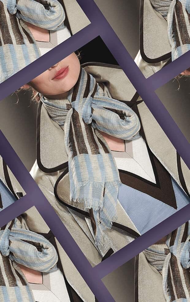 Как завязать шарф: 15 стильных способов