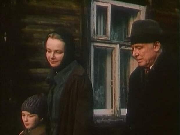 Иннокентий Смоктуновский и Ирина Феофанова в фильме «Чёрный коридор», 1988 год