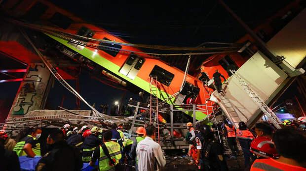 Число жертв обрушения метромоста в Мехико выросло до 25 человек