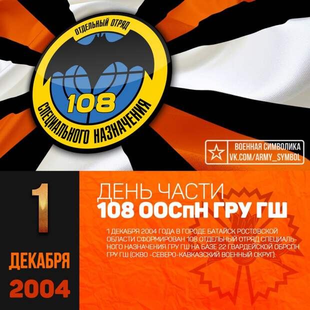День части 108 ООСпН ГРУ ГШ 2004.
