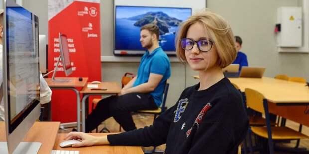 В детском технопарке «Байтик» в Москве создали ИТ-коворкинг для школьников — Сергунина Фото: Ю. Иванко mos.ru