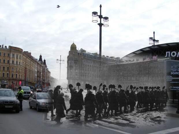 Ленинград 1942-2009 Сенная площадь. Весна. Все силы на расчистку города блокада, ленинград, победа