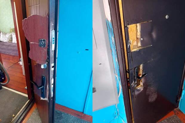 Силовики ошиблись и разрушили дверь в квартиру матери двоих детей