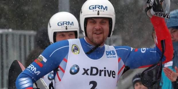 Саночники из РФ выиграли ЧМ в спринте в соревнованиях двоек