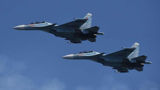 Российский истребитель перехватил над Черным морем три военных самолета Франции