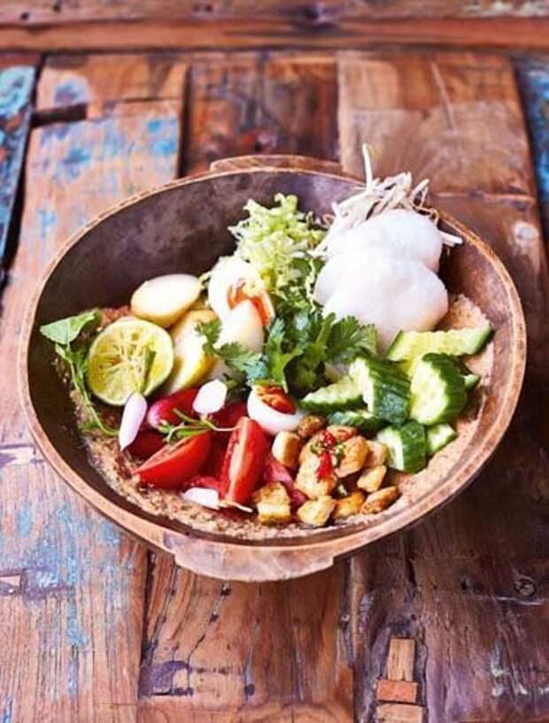 Рецепт овощного салата Gado Gado — Рецепты Джейми Оливера