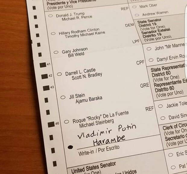 Тем временем в США голосуют за Путина