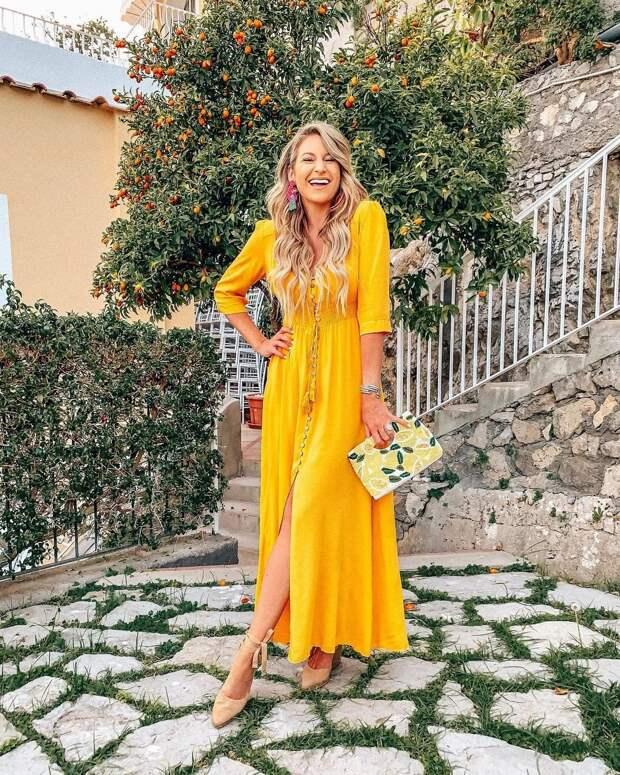 летнее платье с рукавами фото 9