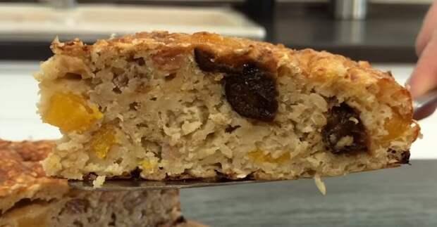 пирог из овсянки с сухофруктами
