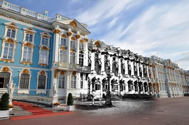 Пушкин 1941-2011 Екатерининский дворец в годы войны блокада, ленинград, победа