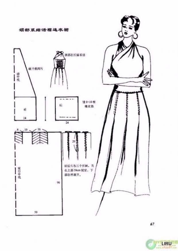Простые интересные выкройки летних платьев (часть 6)