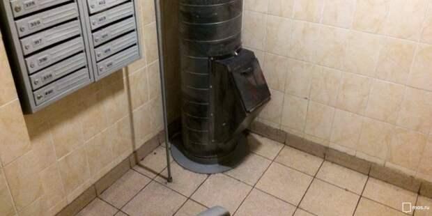 В доме на Двинцев починили мусоропровод