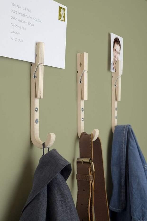 Креативные вешалки своими руками