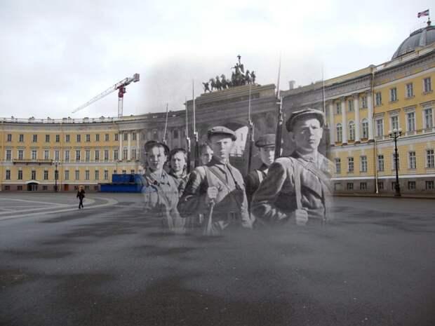 Ленинград 1941-2009 Дворцовая площадь. Юные защитники города блокада, ленинград, победа
