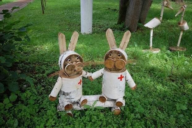 Забавные скульптуры для сада: веселые идеи для вдохновения 5