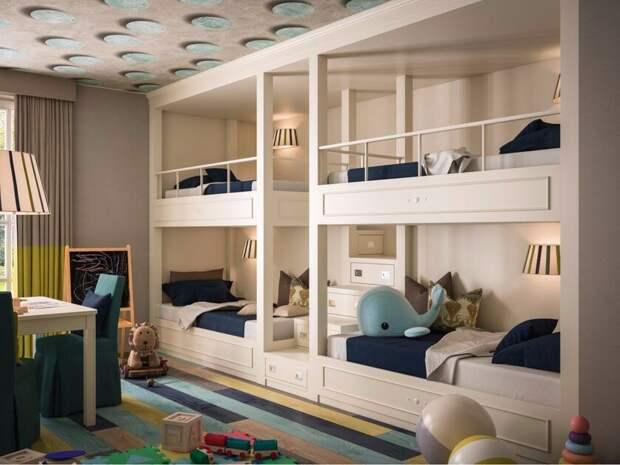 Где поставить кровать в детской