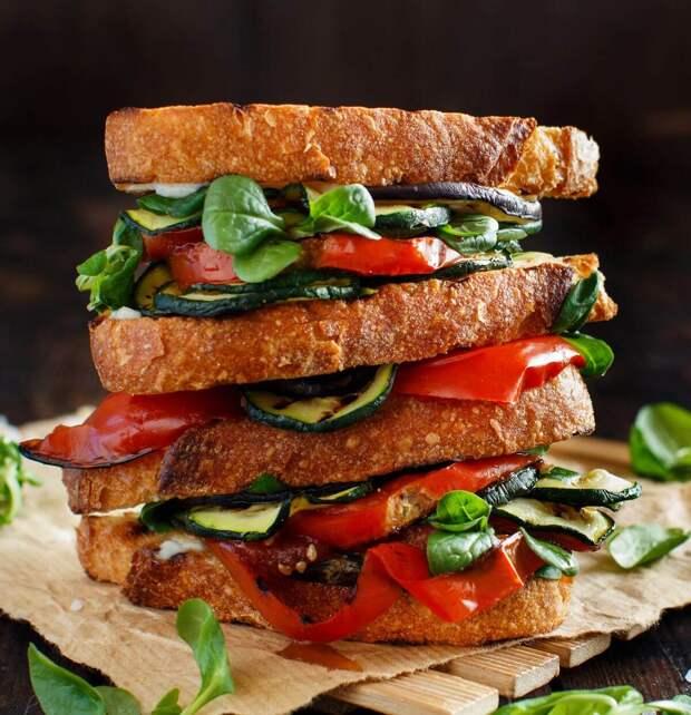 Сэндвич с овощами на гриле: вкусно и полезно