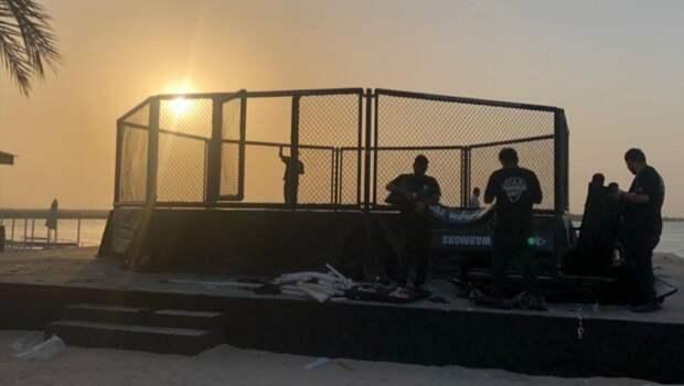 Глава UFC показал фото октагона на берегу «Бойцовского острова»
