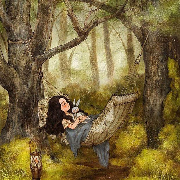 Наслаждаясь лесом