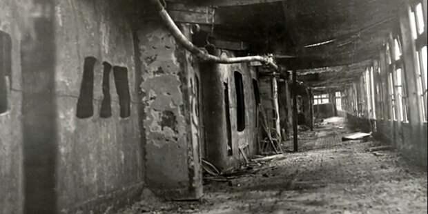 Внутренние помещения корабля после пожара