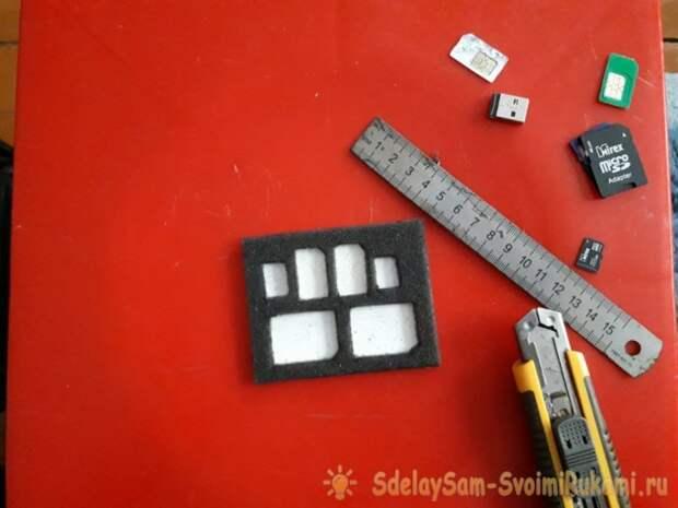 Бокс для карт памяти и сим-карт