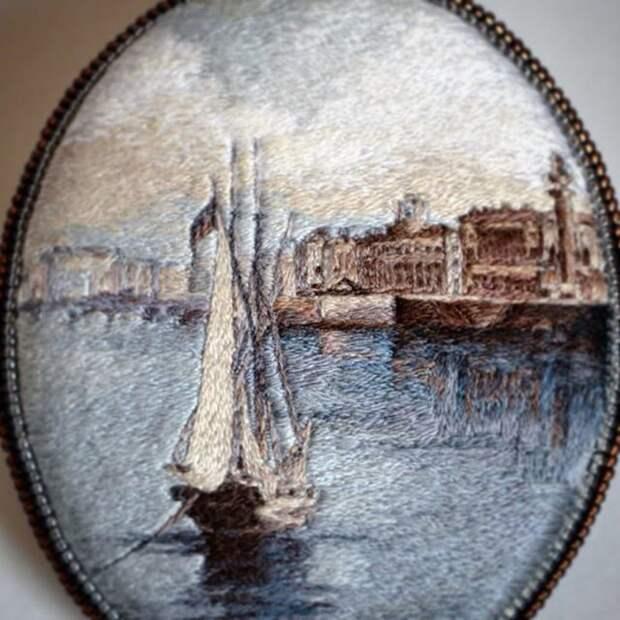 Вышитая живопись в украшениях
