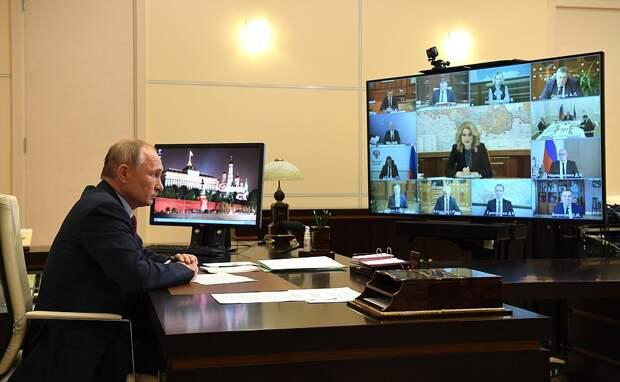 Президент Владимир Путин на совещании с вице-премьерами