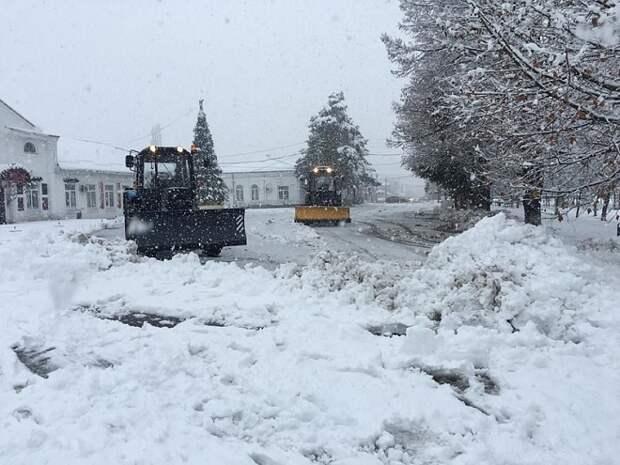 В трех муниципалитетах Кубани ожидаются особо сильные снегопады
