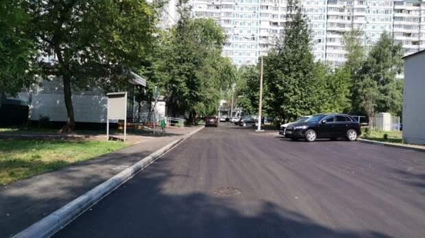 На Псковской заменили асфальт