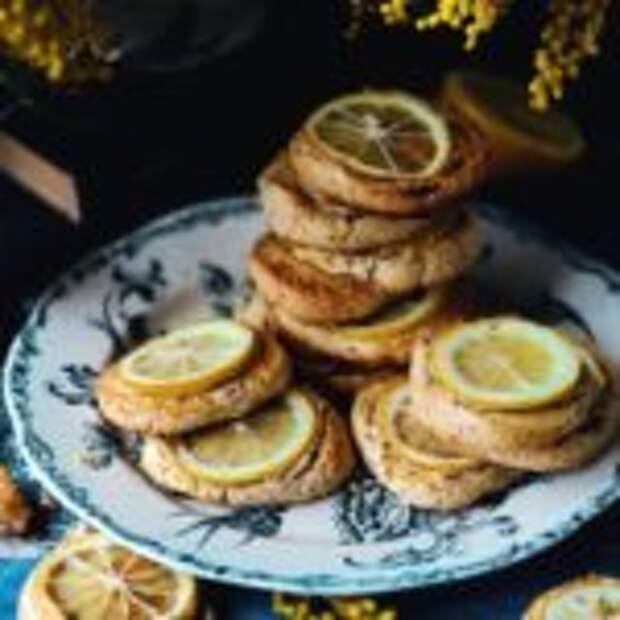 Миндальное печенье с лимоном.