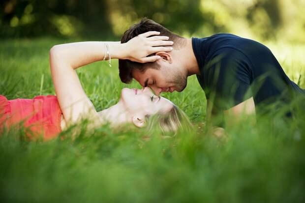 Пара, Поле, Любовники, Романтика, Счастливый, Человек